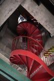Лестницы внутри маяка стоковые изображения rf