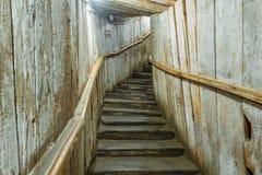 Лестницы входа в солевом руднике Cacica, Румынии Стоковое Изображение