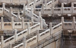 Лестницы в дворце запретного города Gugong - Пекине Китае стоковая фотография