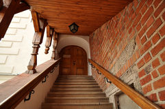 Лестница в замке Sandomierz Стоковое Фото