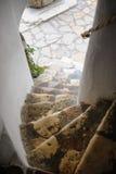 Лестницы в исторических отрубях замка музея Стоковое Фото