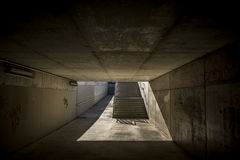 Лестницы в мосте в Sant Cugat del Valles Барселоне Стоковое фото RF