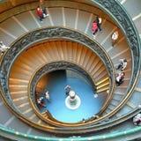 Лестницы в музее Ватикана Стоковые Фотографии RF