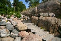 Лестницы в парке Sapokka стоковое изображение rf