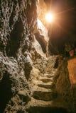 Лестницы в пещере утеса Стоковая Фотография RF