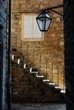 Лестницы в старом городке, Budva Стоковые Фото