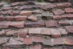 Лестницы гранита щебня красного цвета скачками форменного Стоковые Фото