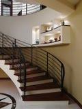 лестницы интерьера конструкции Стоковые Изображения RF