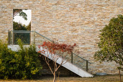 Лестницы и дверь Стоковые Изображения RF