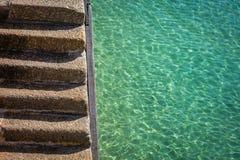 Лестницы и море Стоковое фото RF