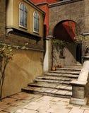 Лестницы и строб с плющом Стоковое Изображение RF