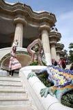 Лестницы и gecko на guell парка Стоковое Изображение RF