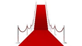 лестницы ковра предпосылки красные белые Стоковые Изображения