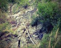 Лестницы к деревне Стоковое Фото