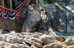Лестницы к пляжу стоковая фотография rf
