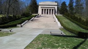 Лестницы Линкольна мемориальные стоковая фотография rf