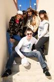 лестницы людей группы молодые Стоковые Изображения