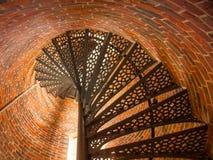 Лестницы маяка пункта Pemaquid Стоковые Изображения