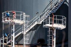 Лестницы металла на лифте зерна Стоковое Изображение RF