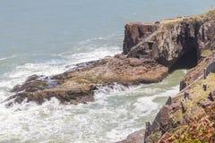 Лестницы на скалах в пляже Torres Стоковая Фотография