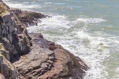 Лестницы на скалах в пляже Torres Стоковое Фото