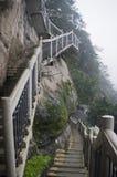 Лестницы на скале. Стоковая Фотография
