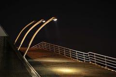 лестницы ночи стоковое изображение