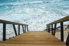 лестницы океана к Стоковая Фотография RF