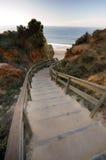 лестницы пляжа к Стоковое Фото