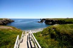 лестницы пляжа к Стоковое фото RF