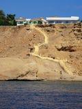 лестницы пляжа малые Стоковое Изображение