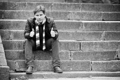 Лестницы подростка Стоковое фото RF