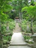 лестницы святыни японца к традиционному Стоковая Фотография