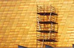 Лестницы сети и стали Scaffoldings для обслуживания Стоковое Изображение