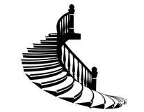 Лестницы силуэта вектора бесплатная иллюстрация