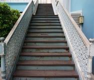 Лестницы старого дома Стоковое Изображение RF