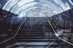 Лестницы с цифровой картиной Стоковая Фотография
