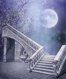 лестницы фантазии мраморные иллюстрация вектора