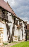 Лестницы церковь-крепости Harman стоковое фото rf