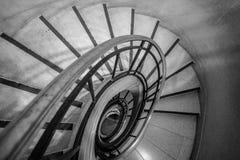 Лестницы черно-белые Стоковые Фото