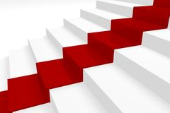 лестницы 3d Стоковые Фотографии RF