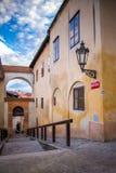 Лестницы Cesky Krumlov замка Стоковые Изображения