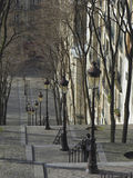 лестницы monmartre стоковое изображение rf