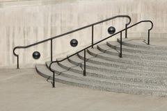 лестницы railing стоковые фотографии rf
