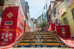Лестницы Selaron в Lapa, Рио-де-Жанейро Стоковое Фото