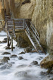 Лестницы Whispy на пляже El матадора Стоковые Фото