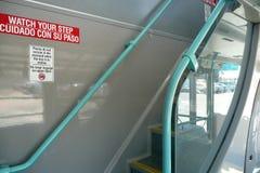 Лестничный колодец внутри двухэтажного автобуса Стоковое фото RF