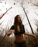 Лес ведьмы иллюстрация штока