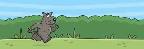 Лес волка шаржа Стоковые Фотографии RF