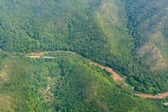 Лес в северных провинциях Таиланда Стоковое Изображение
